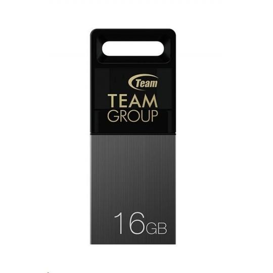 TEAM Flash Disk 16GB M151, Dual USB 2.0 & Micro USB, OTG, šedá