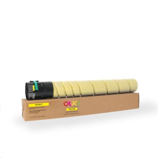 OWA Armor toner pro KONICA MINOLTA  bizhub C258/C308/C368, 26000 stran, TN-324 Y, žlutá/yellow