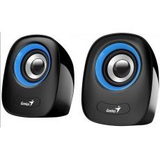 """GENIUS repro SP-Q160 Blue, 2.0, 6W, USB napájení, 3,5"""" jack, černo-modré"""