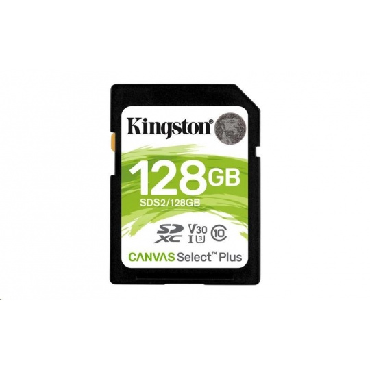 Kingston 128GB SecureDigital Canvas Select Plus (SDXC) 100R 85W Class 10 UHS-I