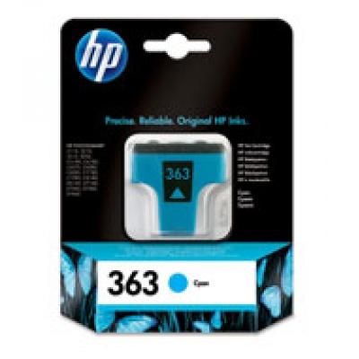 HP 363 Cyan Ink Cart, 4 ml, C8771EE