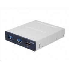 """AKASA HUB USB, přední panel pro VR do 3.5"""", 2x USB 3.0, HDMI, interní"""