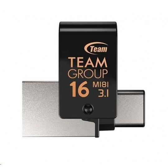 TEAM Flash Disk 16GB M181, USB 3.1 typ A, USB-C, OTG (prachotěsné, vodotěsné, nárazuvzdorné)