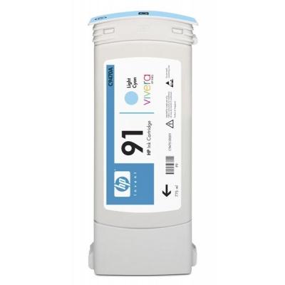 HP 91 Light Cyan DJ Ink Cart, 775 ml, C9470A