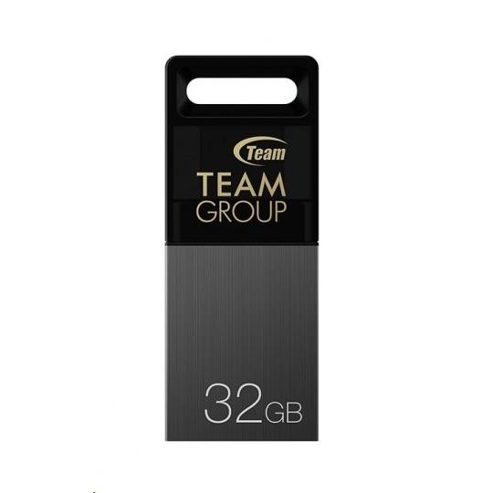 TEAM Flash Disk 32GB M151, Dual USB 2.0 & Micro USB, OTG, šedá