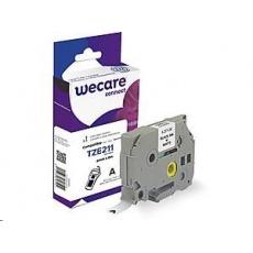 WECARE ARMOR páska pro BROTHER TZE-211 (TZE211), černá/bílá, 6mm x 8m