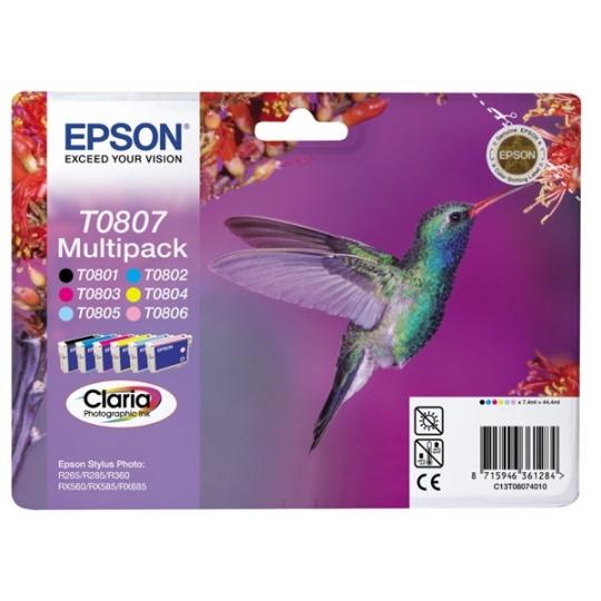 "EPSON ink čer+bar CLARIA Stylus photo ""Kolibřík"" R265/ RX560/ R360 - multipack"
