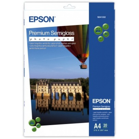 EPSON Paper A4 Premium Semigloss Photo - 20 sheets
