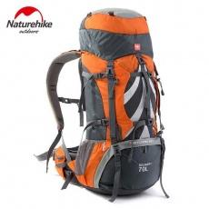 Naturehike trekový batoh 70+5l - oranžový