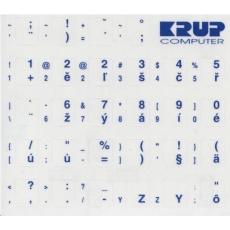 PremiumCord Česká přelepka na klávesnici - bílá