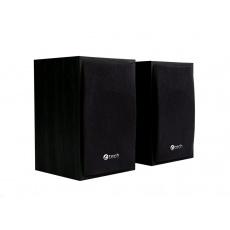 C-TECH Repro SPK-09, 2.0, dřevěné, černé, USB