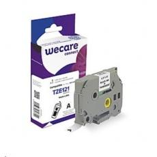 WECARE páska pro BROTHER TZE-121,  Black/Transparent, 9mm x 8m (TZE121)