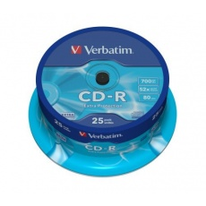 VERBATIM CD-R(25-Pack)Spindle/Extra Protection/DL/52x/700MB