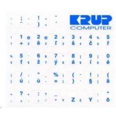 PremiumCord Česká přelepka na klávesnici - modrá