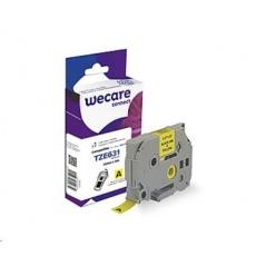 WECARE páska pro BROTHER TZE-631, Black/Yellow, 12mm x 8m (TZE631)
