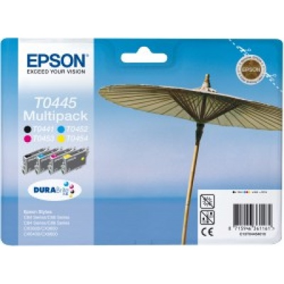 "EPSON ink čer+bar DURABrite ""Slunečník"" Stylus C64/C66/C84/C86/CX6400/CX6600/CX3600/CX3650 - CMYK multipack"