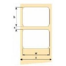 OEM samolepící etikety 60mm x 60mm, bílý papír, cena za 1000 ks