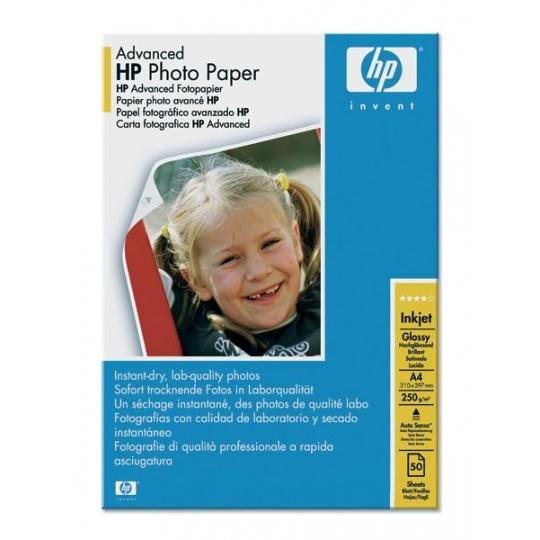 HP Advanced Glossy Photo Paper-50 sht/A4/210 x 297 mm,  250 g/m2, Q8698A