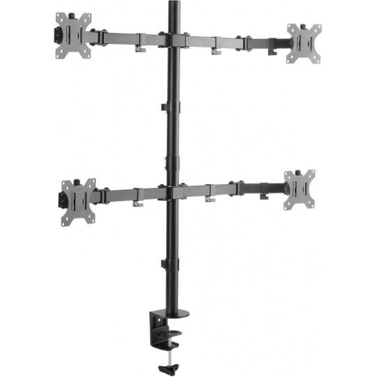 CONNECT IT QuadroArm Basic stolní držák na 4 monitory, černá