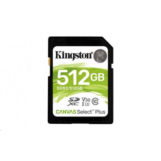 Kingston 512GB SecureDigital Canvas Select Plus (SDC) 100R 85W Class 10 UHS-I