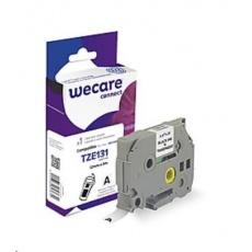 WECARE páska pro BROTHER TZE-131, Black/Transparent, 12mm x 8m (TZE131)