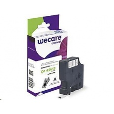 WECARE ARMOR páska pro DYMO S0720780, černá/bílá, 6mm x 7m