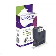 WECARE páska pro DYMO S0720780,Black/White, 6mm x 7m