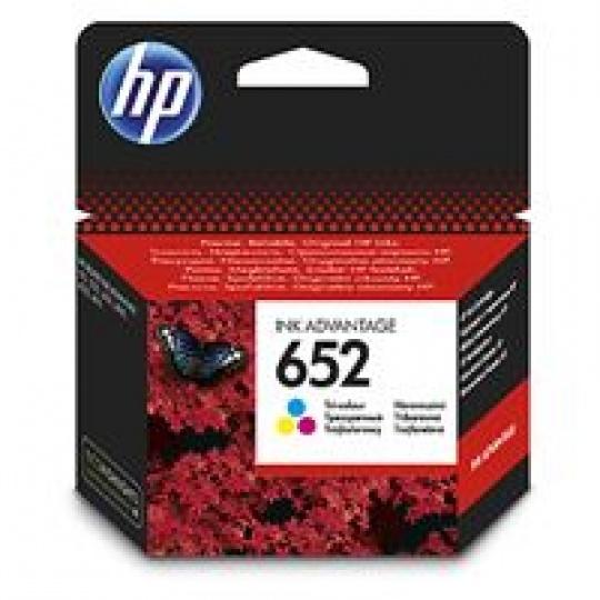 HP 652 Tri-color Original Ink Advantage Cartridge, , F6V24AE