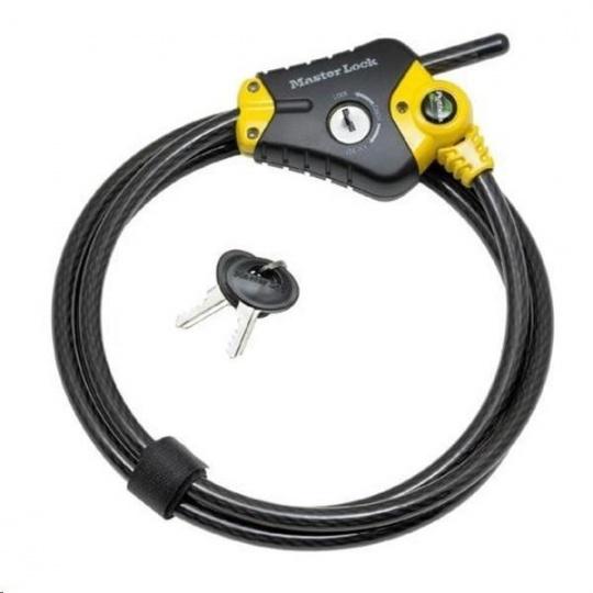 MasterLock Python 8420EURD Zkracovací lanový zámek 10mm