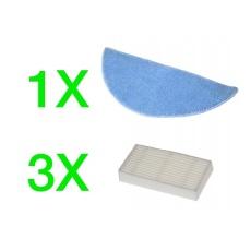 EVOLVEO RoboTrex H5, H6, příslušenství (3 ks HEPA filtr + 1 ks XXL mop z mikrovlákna)